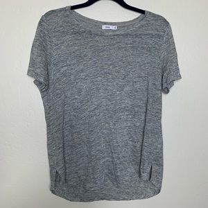 VINCE linen split hem short sleeve M